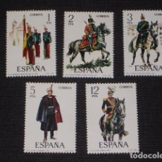 Sellos: USADO - EDIFIL 2451/2455 - SPAIN 1978 UNIFORMES MILITARES /M. Lote 68907629