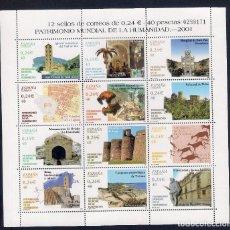 Sellos: PATRIMONIO MUNDIAL DE LA HUMANIDAD. ESPAÑA EMIT. 30-11-2001. Lote 173467384