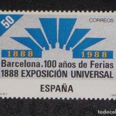 Sellos: USADO - EDIFIL 2951 - SPAIN 1988 CENT EXPO UNIVERSAL BARCELONA /M. Lote 206997112