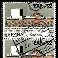 Sellos: ESPAÑA 1992- EDI 3155-92 (PAR UNIDO) USADOS. Lote 69619897