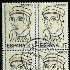 Sellos: ESPAÑA 1992- EDI 3224 (BLOQUE DE CUATRO) USADOS. Lote 115319888