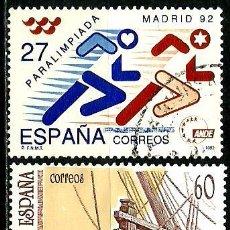 Sellos: ESPAÑA 1992- EDI 3220-23 (SERIES-PARALIMPIADA-UPAEP) USADOS. Lote 155661672
