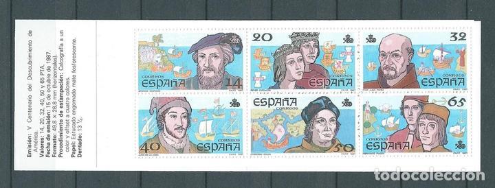 CARNET V CENTENARIO 87, MNH**, EDIFIL 2919C. (Sellos - España - Juan Carlos I - Desde 1.986 a 1.999 - Nuevos)
