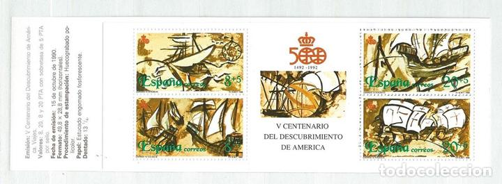 CARNET V CENTENARIO 1990, MNH**, EDIFIL 3079C. (Sellos - España - Juan Carlos I - Desde 1.986 a 1.999 - Nuevos)