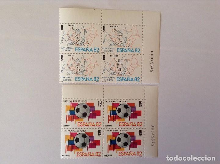 ESPAÑA 1980 FUTBOL 1982 EDIFIL 2570/1** BLOQUE DE 4 (Sellos - España - Juan Carlos I - Desde 1.975 a 1.985 - Nuevos)