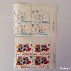 Sellos: ESPAÑA 1980 FUTBOL 1982 EDIFIL 2570/1** BLOQUE DE 4. Lote 71842787