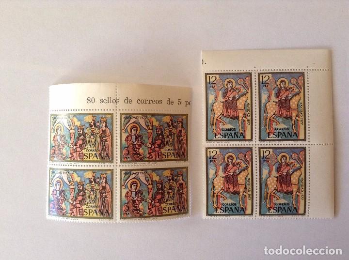 ESPAÑA 1977 NAVIDAD. EDIFIL 2446/7** BLOQUE DE 4 (Sellos - España - Juan Carlos I - Desde 1.975 a 1.985 - Nuevos)