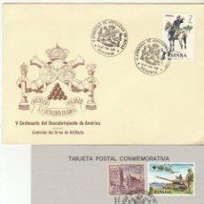 Sellos: II JORNADA DE ARTILLERIA EN INDIAS . SEGOVIA. 1987. Lote 71903707