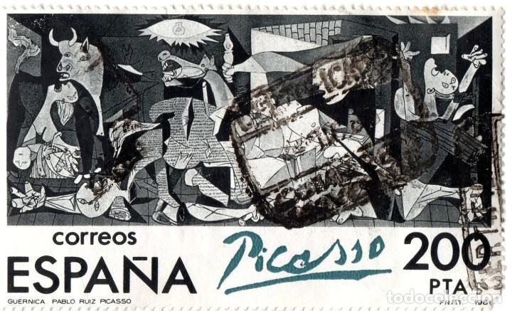 SELLO ESPAÑA 1981 - EL GUERNICA EN ESPAÑA. CENTENARIO DE RUÍZ PICASSO (Sellos - España - Juan Carlos I - Desde 1.975 a 1.985 - Usados)