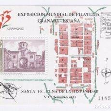 Sellos: HB EXPO MUNDIAL FILATELIA. GRANADA . Lote 72105451