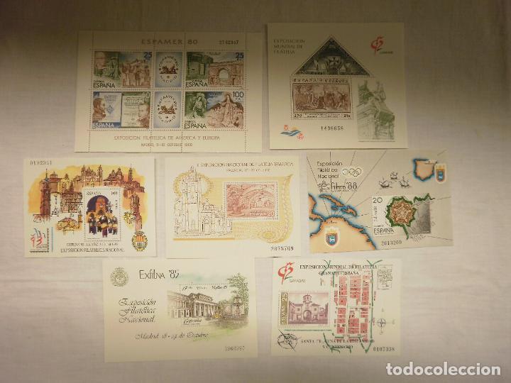 SELLOS EXPOSICION FILATELICA 1980-85-88-90-91-92-93 (Sellos - España - Juan Carlos I - Desde 1.975 a 1.985 - Nuevos)