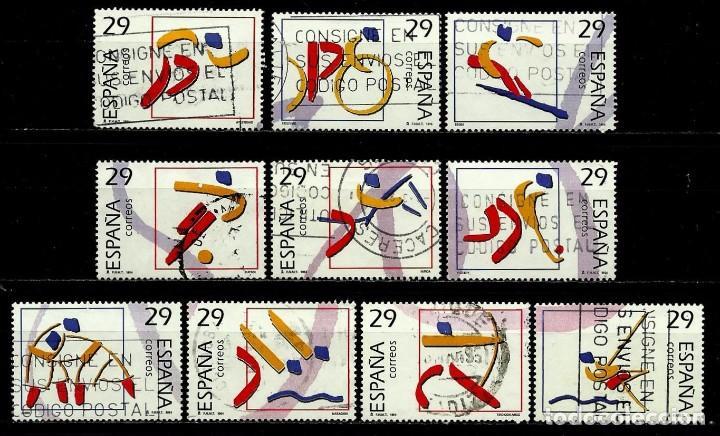 ESPAÑA 1994- EDI 3325/34 (SERIE-DEPORTES OLIMPICOS ORO) USADOS (Sellos - España - Juan Carlos I - Desde 1.986 a 1.999 - Usados)