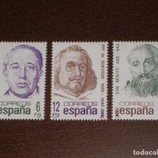 Sellos: NUEVO - EDIFIL 2618/2620 SIN FIJASELLOS - SPAIN 1981 MNH - CENTENARIOS /M. Lote 155994076