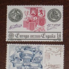 Sellos: NUEVO - EDIFIL 2657/2658 SIN FIJASELLOS - SPAIN 1982 MNH - EUROPA /M. Lote 157120757