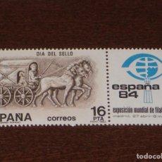 Sellos: NUEVO - EDIFIL 2719 SIN FIJASELLOS - SPAIN 1983 MNH - DIA DEL SELLO /M. Lote 157120585