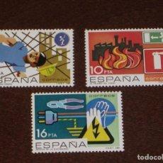 Sellos: NUEVO - EDIFIL 2732/2734 SIN FIJASELLOS - SPAIN 1984 MNH - PREVENCION LABORAL /M. Lote 157120744