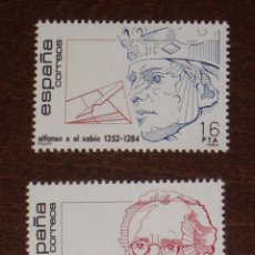 Sellos: NUEVO - EDIFIL 2759/2760 SIN FIJASELLOS - SPAIN 1984 MNH - CENTENARIOS /M. Lote 143932253