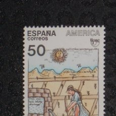 Sellos: NUEVO - EDIFIL 3035 SIN FIJASELLOS - SPAIN 1989 MNH - PUEBLOS PRECOLOMBINOS /M. Lote 73602775