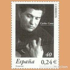 Selos: NUEVO - EDIFIL 3841 SIN FIJASELLOS - SPAIN 2001 MNH - CARLOS CANO /M. Lote 232423665