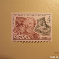 Sellos: ESPAÑA -1977 - SOCIEDAD ECONÓMICA AMIGOS DEL PAIS - EDIFIL 2402 - CARLOS III - NUEVO. Lote 73853247