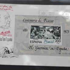 Sellos: SOBRE PRIMER DÍA DE CIRCULACIÓN CENTENARIO PICASSO 1981. Lote 73916962