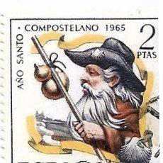 Sellos: ** S281 - SELLO USADO - ESPAÑA - AÑO SANTO COMPOSTELANO 1965. Lote 74206295