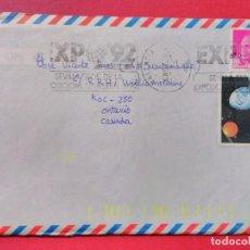 Sellos: CARTA CIRCULADA CON MATASELLOS DE RODILLO EXPO 92.. Lote 74244471