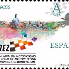 Sellos: SPAIN 2016 - JEREZ , MOTORCYCLING WORLD CAPITAL 2015-2017 MNH. Lote 74433375