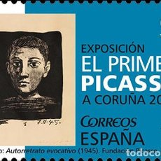 Sellos: SPAIN 2015 - GREAT EXHIBITIONS - THE FIRST PICASSO MNH. Lote 279441798