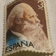 Sellos: SELLO DE ESPAÑA AÑO 1981. COMPOSITOR MANUEL FERNÁNDEZ CABALLERO. 3 PESETAS.. Lote 74569735