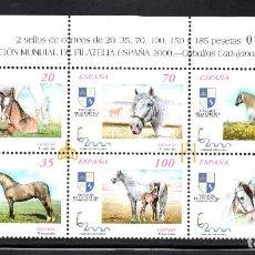 Sellos: ESPAÑA 3608/13** - AÑO 1998 - EXPOSICION MUNDIAL DE FILATELIA ESPAÑA 2000 - CABALLOS. Lote 74789227