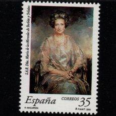 Sellos: ESPAÑA 3706** - AÑO 2000 - HOMENAJE A DOÑA MARIA DE LAS MERCEDES DE BORBON Y ORLEANS. Lote 179338395