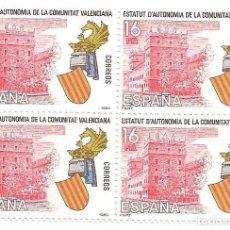 Sellos: BLOQUE ESTATUTO COMUNIDAD VALENCIANA - ENVIO GRATIS. Lote 74939639