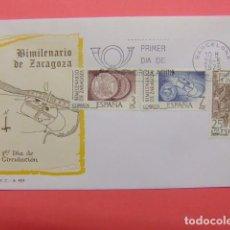 Sellos: ESPAÑA ESPAGNE FDC 1976 BIMILENARIO DE ZARAGOZA EDIFIL Nº 2319 / 21. Lote 74961299