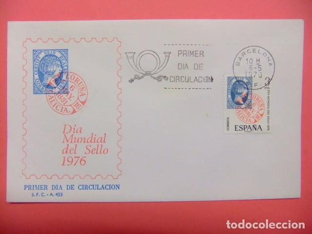 ESPAÑA ESPAGNE FDC 1976 DIA DEL SELLO EDIFIL Nº 2318 (Sellos - España - Juan Carlos I - Desde 1.975 a 1.985 - Cartas)