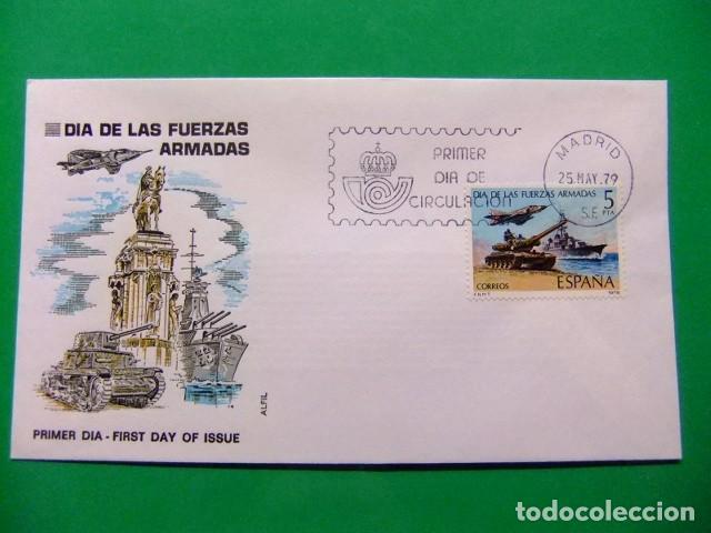 ESPAÑA ESPAGNE FDC 1979 DIA DE LAS FUERZAS ARMADAS - EDIFIL Nº 2525 YVERT Nº 2171 VER FOTOS (Sellos - España - Juan Carlos I - Desde 1.975 a 1.985 - Cartas)