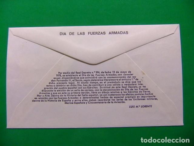 Sellos: ESPAÑA ESPAGNE FDC 1979 DIA DE LAS FUERZAS ARMADAS - Edifil nº 2525 Yvert nº 2171 VER FOTOS - Foto 2 - 74975663