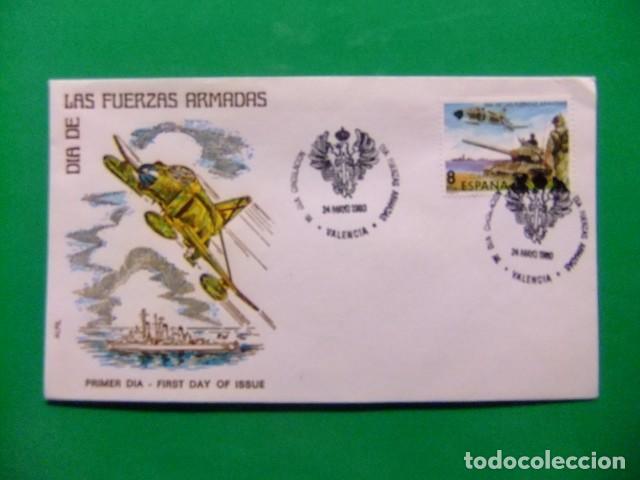 ESPAÑA ESPAGNE FDC 1980 DIA DE LAS FUERZAS ARMADAS EDIFIL Nº 2572 YVERT Nº 2216 VER FOTOS LEER TEXTO (Sellos - España - Juan Carlos I - Desde 1.975 a 1.985 - Cartas)
