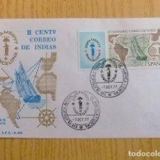 Sellos: ESPAÑA ESPAGNE FDC 1977 BICENTENARIO CORREO DE INDIAS / EXPO FILATELICA / EDIFIL 2437 YV 2083. Lote 75073195