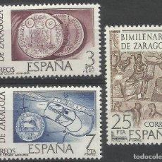 Sellos: 1976 EDIFIL 2319/21** NUEVO SIN CHARNELA. LUJO. BIMILENARIO DE ZARAGOZA . Lote 155943522