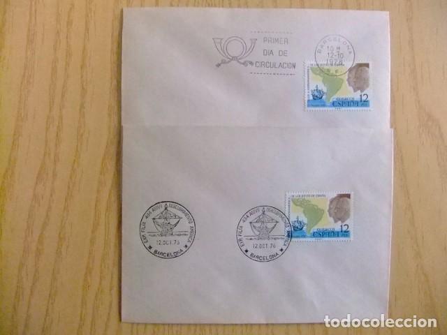 ESPAÑA 1976 CARTAS MATASELLADAS PRIMER DIA /DESCUBRIMIENTO AMERICA VIAJE REYES EDIFIL Nº 2370 (Sellos - España - Juan Carlos I - Desde 1.975 a 1.985 - Cartas)