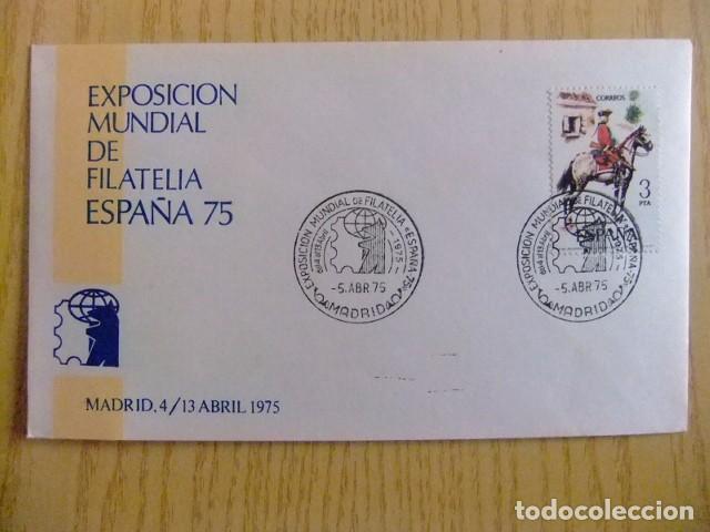 ESPAÑA 1975 FDC EXPO. FILATELIA EN MADRID EDIFIL Nº 2238 (Sellos - España - Juan Carlos I - Desde 1.975 a 1.985 - Cartas)