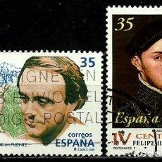 Sellos: ESPAÑA 1998- EDI 3546-48 (SELLOS-R. DE LA FUENTE-FELIPE II) USADOS. Lote 101316779
