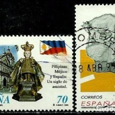 Sellos: ESPAÑA 1998- EDI 3552-53 (SELLOS-FILIPINAS-ARTE) USADOS. Lote 101318792
