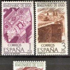 Sellos: 1976 EDIFIL 2356/58** NUEVO SIN CHARNELA. LUJO. BIMILENARIO DE LUGO. Lote 75694155