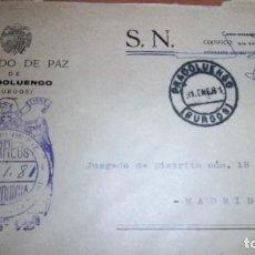 Sellos: CARTA PRADOLUENGO BURGOS MATASELLOS HISTORIA POSTAL FRANQUICIA CORREOS. Lote 75933819