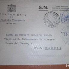 Sellos: CARTA BAHABON DE ESGUEVA BURGOS MATASELLOS CEM FRANQUICIA HISTORIA POSTAL PINILLA TRASMONTE. Lote 75934003