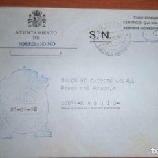 Sellos: CARTA TORRESANDINO BURGOS MATASELLOS AG AGENCIA POSTAL FRANQUICIA HISTORIA POSTAL. Lote 75934143