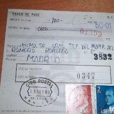 Sellos: GIRO POSTAL MATASELLO MANISES VALENCIA HISTORIA POSTAL MATASELLOS. Lote 76026319