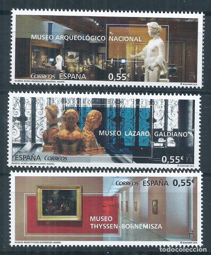 R12/ ESPAÑA EN NUEVO** 2015, EDF, 4953/55, MUSEOS (Sellos - España - Juan Carlos I - Desde 2.000 - Nuevos)